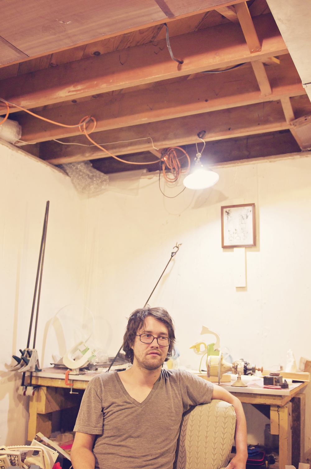 david-lethcoe-in-studio-basement